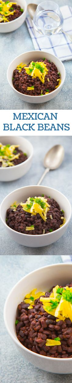 MEXICAN BLACK BEANS A classic and healthy treat! Mexican black beans make a perfect lunch; super delicious, nutrient-packed and super healthy. Try out the recipe and you'll enjoy it.