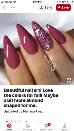 - unghie natalizie/non. Classy Nails, Fancy Nails, Cute Nails, Pretty Nails, Hair And Nails, My Nails, Nails Only, Nails 2018, Almond Nails