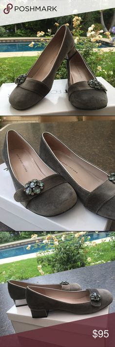 Marc by Marc Jacobs Bejeweled Velvet Block Heels Worn once and in very good condition Marc by Marc Jacobs Shoes Heels