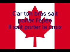 Hymne national du Canada avec musique et paroles, version Anglaise/National Anthem of Canada with lyrics and Music English Version National Songs, National Anthem, O Canada, French Teacher, Teaching French, Pays Francophone, First Year Teaching, French Songs, Dolch Sight Words