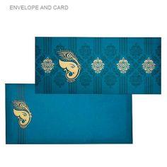 Ganesh and peacock design card