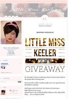 My blog, Check it out.... http://littlemisskeeler.blogspot.co.uk