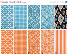 ON SALE Aqua blue and orange pillows teal and by HomeStreetDecor