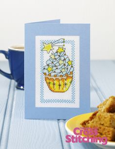 Cupcake of the Month - cross stitch pattern by The World of Cross Stitching, issue 198