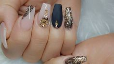 Everybody loves coffin nail designs! You can do anything with longs - add nail gems, experiment with outrageous colors and more! See more designs here.