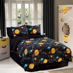 Veratex Bedding Collection Rocket StarGlow in The Dark Comforter Set, Black Multi, Full Size by Veratex Bedding Collection. $66.97. Machine washable and dryable. Easy to care for. Fun and edgy. 100% Polyesetr. The rocket star full comforter set will take you beyond this world.the glow in the dark comforter set includes an all over planet design print on a black background with matching pillowcases both the comforter and pillowcases are constructed from 100-percentage cot...