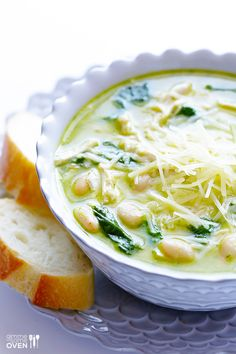5-Ingredient Pesto Chicken Soup