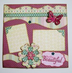 Hello Beautiful Premade 12x12 one page layout por debbiesScrapArt