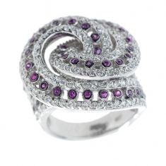 Silber Damenring Purple Wave erhältlich unter www.couture-jewels.at Silberschmuck Engagement Rings, Jewels, Couture, Floral, Fashion, Bangle Bracelet, Earrings, Silver Jewellery, Chain