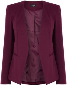 Womens berry jacket from Oasis - £40 at ClothingByColour.com