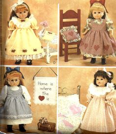 """18"""" Doll Clothes Pattern Crafts Projects McCall's Nightgown Dress Sewing Uncut"""