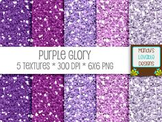 Purple Glory Glitter Textures | Digital Glitter Papers | High Resolution | Helps Fund our Ministry Trip to Uganda!