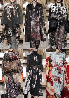 ANTONIO MARRAS | Pattern Mash-ups – Romantic Florals – Lacey Inlays – Metallic Weaves – Animal Prints – Fur Trims & Mixes – Palm Prints – Patched Brocade – Ornamental Scrolls | MILAN | http://vogue.co.uk
