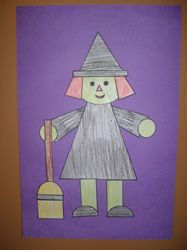 Witch Cut and paste  from Making Learning Fun.