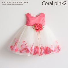 ベビードレス コーラルピンク Cute Baby Girl Outfits, Baby Girl Dresses, Toddler Outfits, Baby Girl Fashion, Kids Fashion, Flower Girl Dress Shoes, Kids Western Wear, Baby Girl Christmas Dresses, Kids Gown