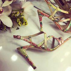 Floral Sandals - SS 2016 #the5thelementshoes #rosettishowroom #springsummer #readytogo #SS2016 #floral #leather #sandals #eveningwear