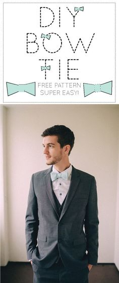 DIY bow tie pattern. Visit our site for fabrics perfect for your men! www.farmhousefabrics.com