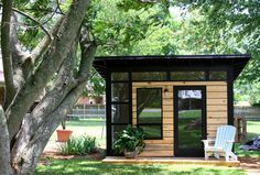 Backyard studio shed 5 cool prefab backyard sheds you can order right now curbed backyard studio . Backyard Office, Cozy Backyard, Backyard Studio, Backyard Sheds, Modern Backyard, Outdoor Sheds, Backyard Landscaping, Landscaping Design, Shed Office