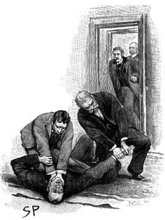 Sherlock Holmes the Reigate Puzzle The two Cunninghams were bending over the prostrate figure of Sherlock Holmes