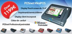 Sistem complet Point of Sale pentru restaurante, cafenele, cofetării și fast-food. Echipament robust și compact, include ecran touch-screen, imprimantă termică, cititor de carduri și afișaj client, rulând versiunea de soft POSnet Professional.