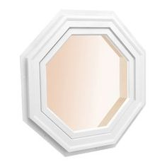 Awsco Octagon Replacement White Exterior Window (Rough Opening: X Actual: X Octagon Window, Traditional Windows, Brick Molding, Lowes Home Improvements, Window Design, Energy Star, Exterior Colors, Windows And Doors, Colorful Interiors