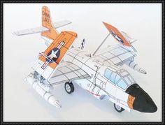 Douglas F3D Skyknight Free Aircraft Paper Model Download