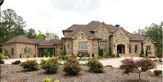 Mitch Ginn design - John Bynum Homes - stone and brick  www.mitchginn.com