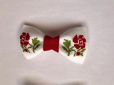 Items similar to Red Flowers Hair Bow- Barrettes - hair clips- hand embroidery - cross-stitch inches or 9 cm- gudimaO on Etsy Hair Barrettes, Hair Bows, Hair Clips, Hand Embroidery Stitches, Cross Stitch Embroidery, Barrette Clip, Girls Bows, Red Flowers, Projects To Try