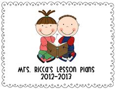Mrs. Ricca's Kindergarten: Lesson Plans & FREEBIE Template-- a full year of kinder lesson plans!!! Plus blank templates!