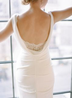 This dreamy dress: http://www.stylemepretty.com/little-black-book-blog/2015/02/20/classic-nyc-wedding-at-the-bowery-hotel/ | Photography: Rebecca Yale - http://www.rebeccayaleportraits.com/