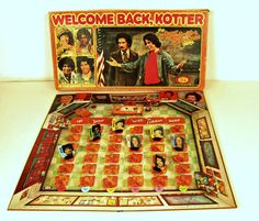 vintage Welcome Back, Kotter the Up Your Nose with a Rubber Hose board game - Ideal - 1970s