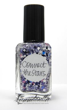 Connect the Stars is full of black and white glitters as well as cyan, bubblegum pink, black and white stars in a pink- and aqua-shimmered clear base.
