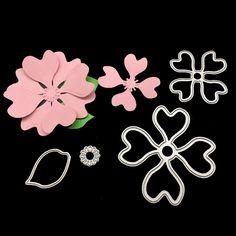 4Pcs Flowers Leaves Leaf Die Cutting Dies for Sizzix Scrapbooking Die Cuts Album Photo Decoration snijmal en embossing
