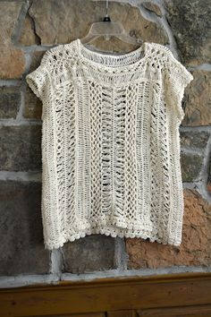 Hairpin Lace Oversize Tunic Crochet Top by CasadeAngelaCrochet  20% off coupon code CHACHA99