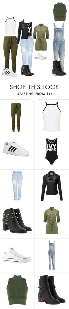 """""""outfitz"""" by sarhmom ❤ liked on Polyvore featuring Balmain, Miss Selfridge, adidas, Ivy Park, Topshop, Converse, Sans Souci, WearAll and Christian Louboutin"""