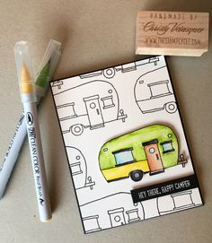 Hi there stampers! I am just loving this stamp set Glamper Greetings from the Stampin Up 2016 Holiday Catalog. It is so cute and versatil...