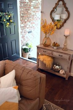 Crazy Chic Designs | How to Create a Warm Fall Feeling in Your Home: