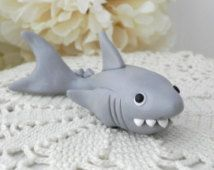 Shark Cake Topper, Birthday or Baby Shower, Keepsake, Nursery Decor