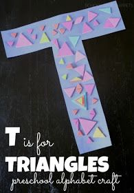Letter T is for Triangles Preschool Alphabet Craft