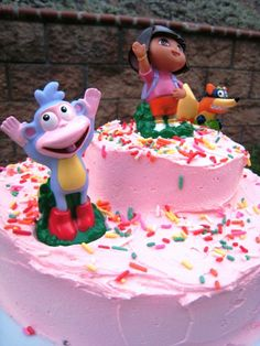 A Dora Birthday Cake