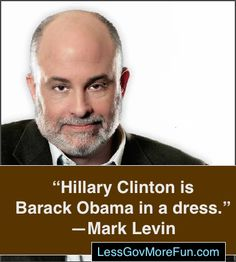 . Amy Mek Feisty☀️Floridian - Just who is Hillary Clinton? The Great One, Mark Levin with the answer: #CVN #PJNET