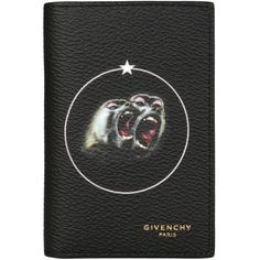 Givenchy Monkey Brothers coated canvas credit card holder (3.415 ARS) ❤ liked on Polyvore featuring men's fashion, men's bags, men's wallets, nero, mens credit card holder wallet and givenchy mens wallet