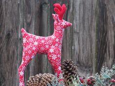 Christmas Reindeer softie plush toy cute by HappyDollsByLesya