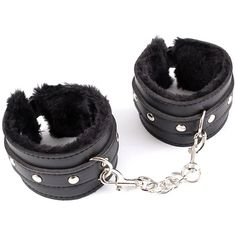 EUBUY Fetish Faux Leather Fur Sm Restraint Adjustable Wrist Handcuff... (15 CAD) ❤ liked on Polyvore featuring objects, item and stripper