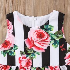 Striped Red Roses Princess Dress from kidspetite.com! Adorable & affordable baby, toddler & kids clothing. Shop from one of the best providers of children apparel at Kids Petite. FREE Worldwide Shipping to over 230+ countries ✈️ www.kidspetite.com #girl #toddler #dresses #clothing