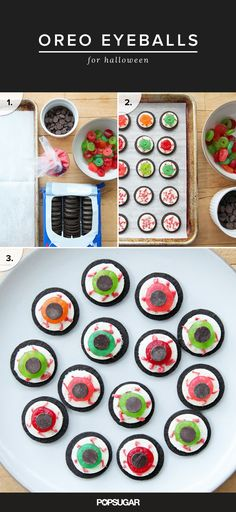 Just because you're time-strapped doesn't mean you have to miss out on making a fun and festive Halloween dessert. Unlike most cookies, cupcakes, and other treats, there's no baking involved; rather, it's more of an assembly job.