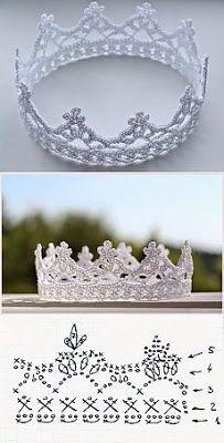 Tejido Facil: Patrón: IMPERDIBLE! Corona de princesa al crochet