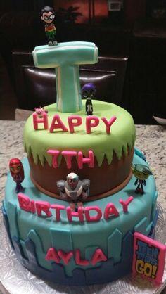 Teen Titans Go! Birthday Cake Theme by Jenny Marie
