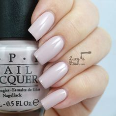 OPI Brazil Collection - Review &  Swatches. ★ Don't Bossa Nova Me Around★ a pale creamy nude creme nail polish. Lovely light shade with a bit of mauve undertones that is definitely office friendly!