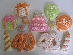 Happy 40th! by East Coast Cookies, via Flickr